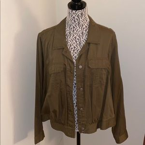 Lane Bryant casual olive green jacket